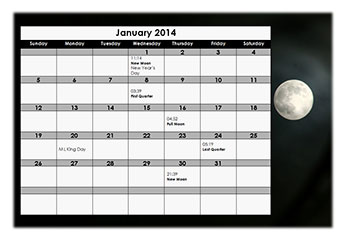 May 2015 Calendar with Moon Phases