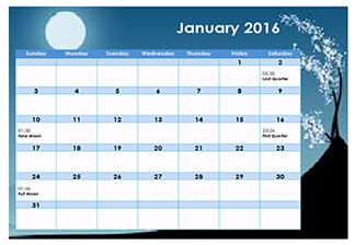 Calendar Lunar 2016