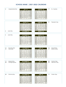 Fall Calendar 2022.School Calendar 2021 2022 2022 Academic Calendar Templates