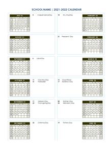 Blank School Calendar 2021-22 School Calendar 2021   2022  2022 & Academic Calendar Templates