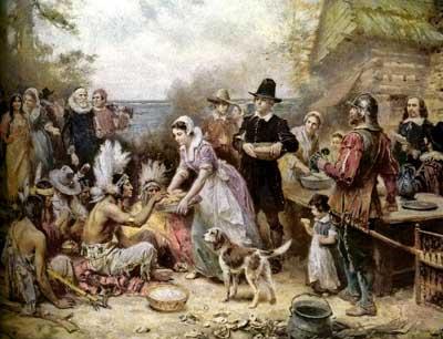 Thanksgiving pilgrim wallpaper the first thanksgiving - Thanksgiving Day Harvest Festival Fourth Thursday Of