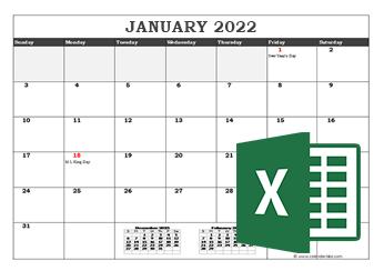 2021 Microsoft Excel Calendar