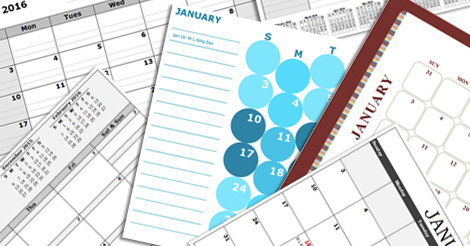 Excel Calendar Template - Download FREE Printable Excel Template