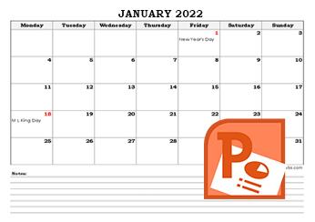 2021 PowerPoint Calendar