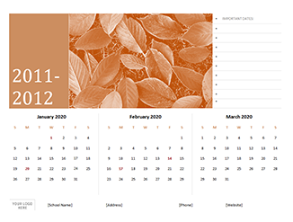 Customize Word Calendar