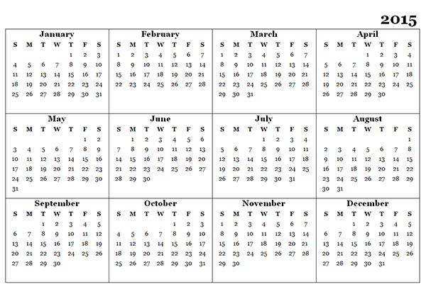 2015 And 2018 Calendar Template Militaryalicious