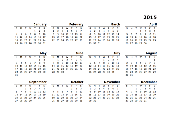 Template For 2015 Year Calendar/page/2 | Search Results | Calendar ...