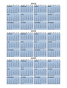 2015 yearly calendar with previous and next year