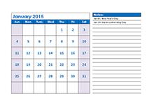 calendar templates 2015