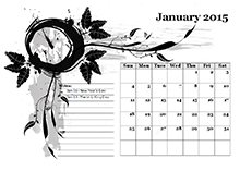 monthly template landscape 05