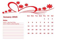 2015 monthly calendar 6