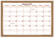 2015 monthly calendar design