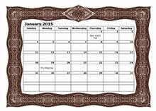 2015 monthly calendar 9