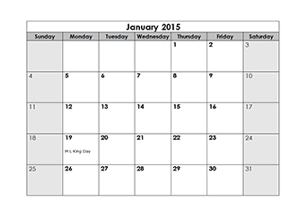 Perfect 2015 Yearly Calendar With Us Holidays