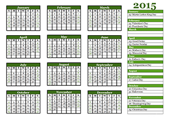 2015 yearly calendar editable 2015 monthly calendar template with holidays