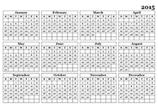 2015 yearly calendar landscape 09
