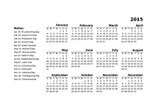 2015 yearly calendar landscape designer