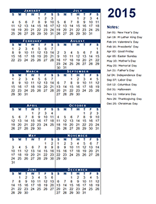2015 yearly calendar portrait 12