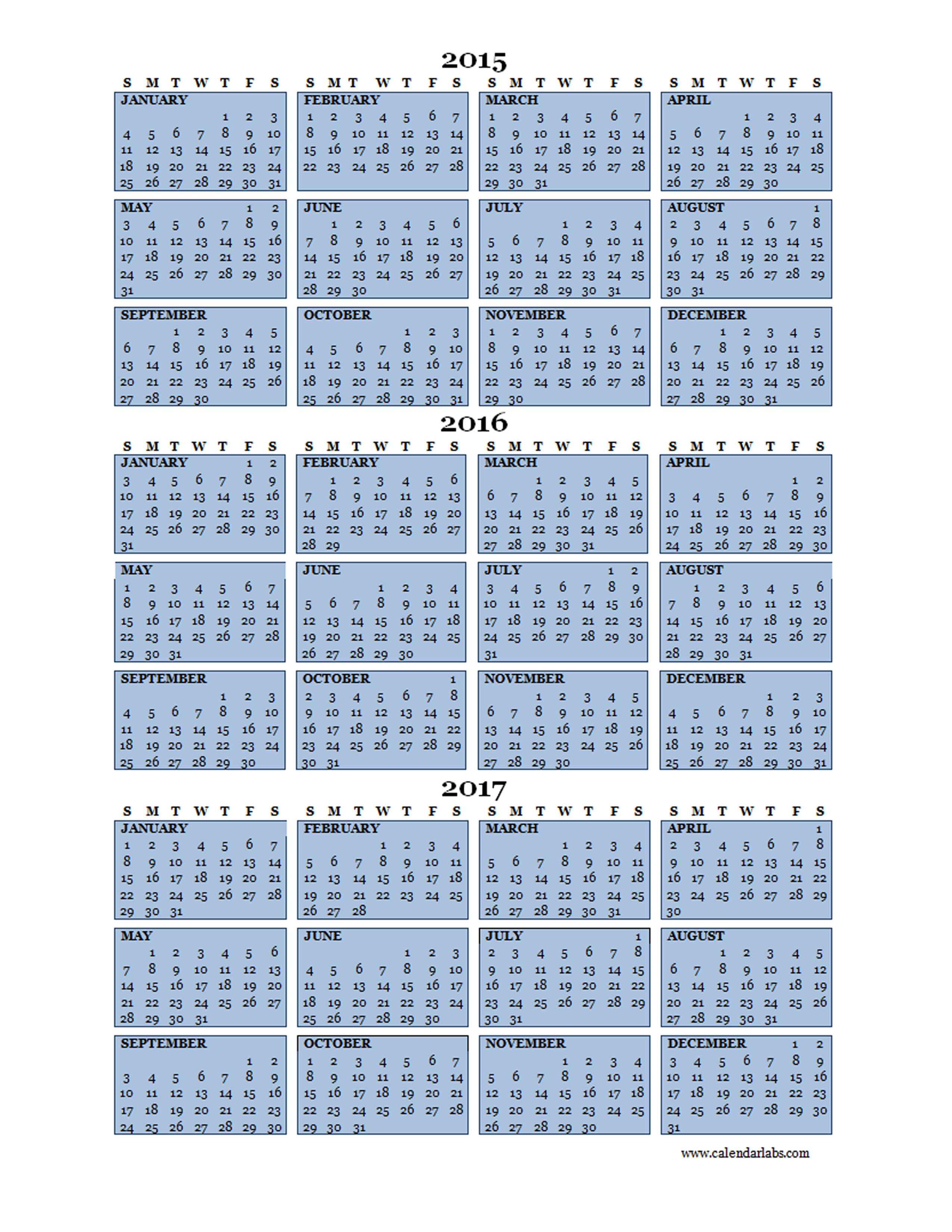 Yearly Calendar Template to Download