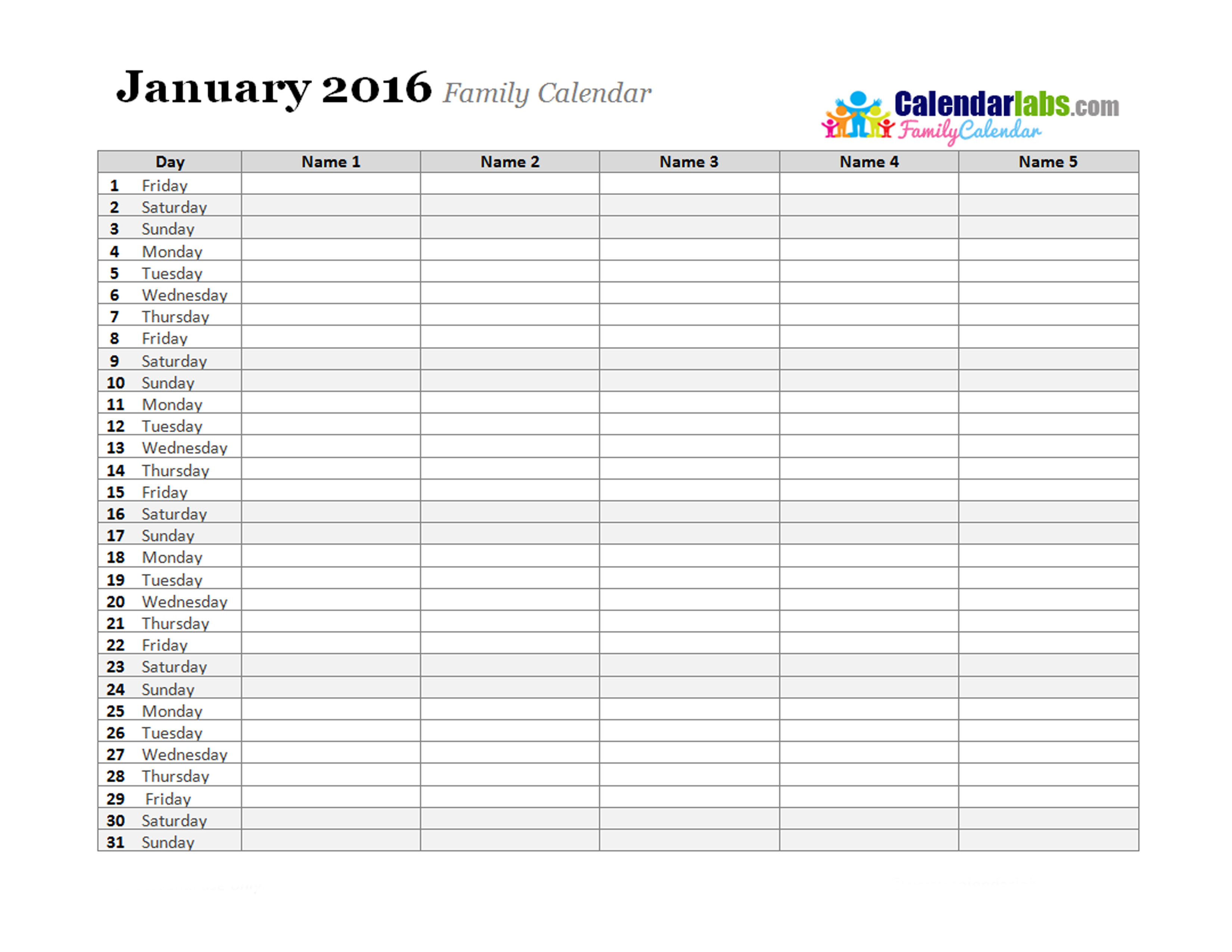 Challenger image within monthly planner template