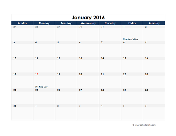 make a calendar in excel