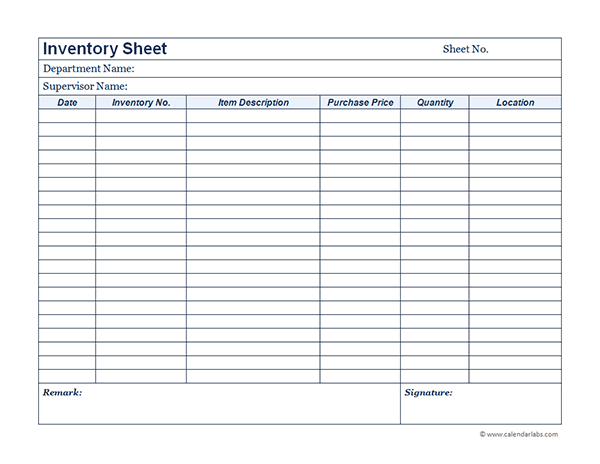 Business Inventory 01 Free Printable Templates .