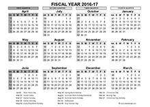 fiscal calendar UK template