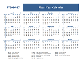 Fiscal Calendar - Download 2016 Fiscal Year Calendar Templates