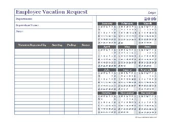 2016 Business Calendar