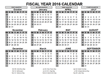 2016 US fiscal year template