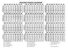 Fiscal calendar 2016 templates