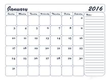 2016 monthly calendar 21