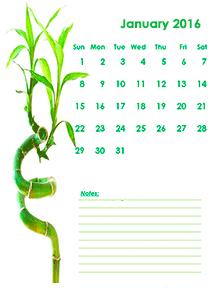 2016 blank calendar kids design