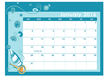 2016 Monthly Calendar Template 17