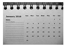 2016 monthly calendar landscape