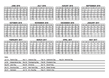 2016 PDF Yearly Calendar With Holidays