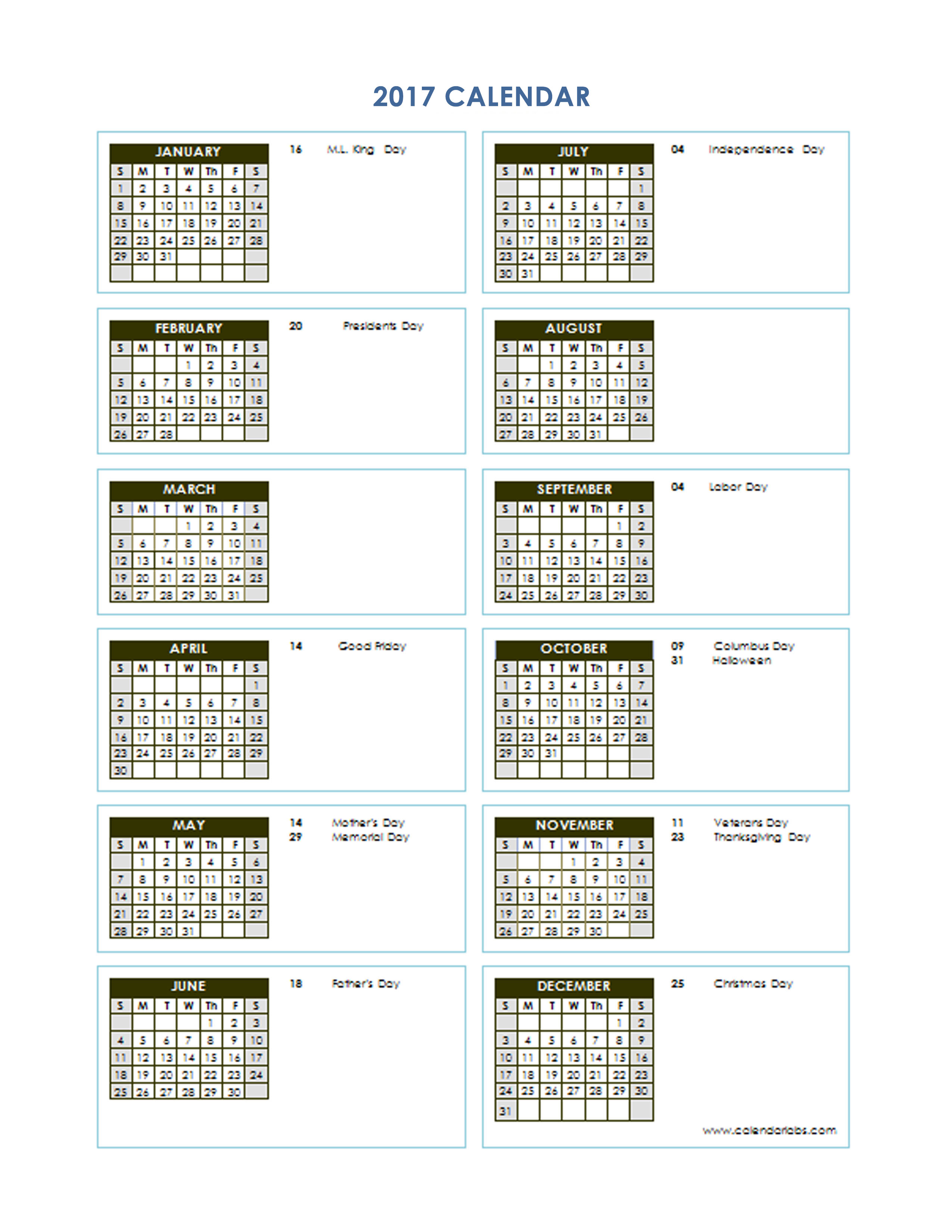 Vertical Monthly Calendar Template : Yearly calendar template vertical free printable