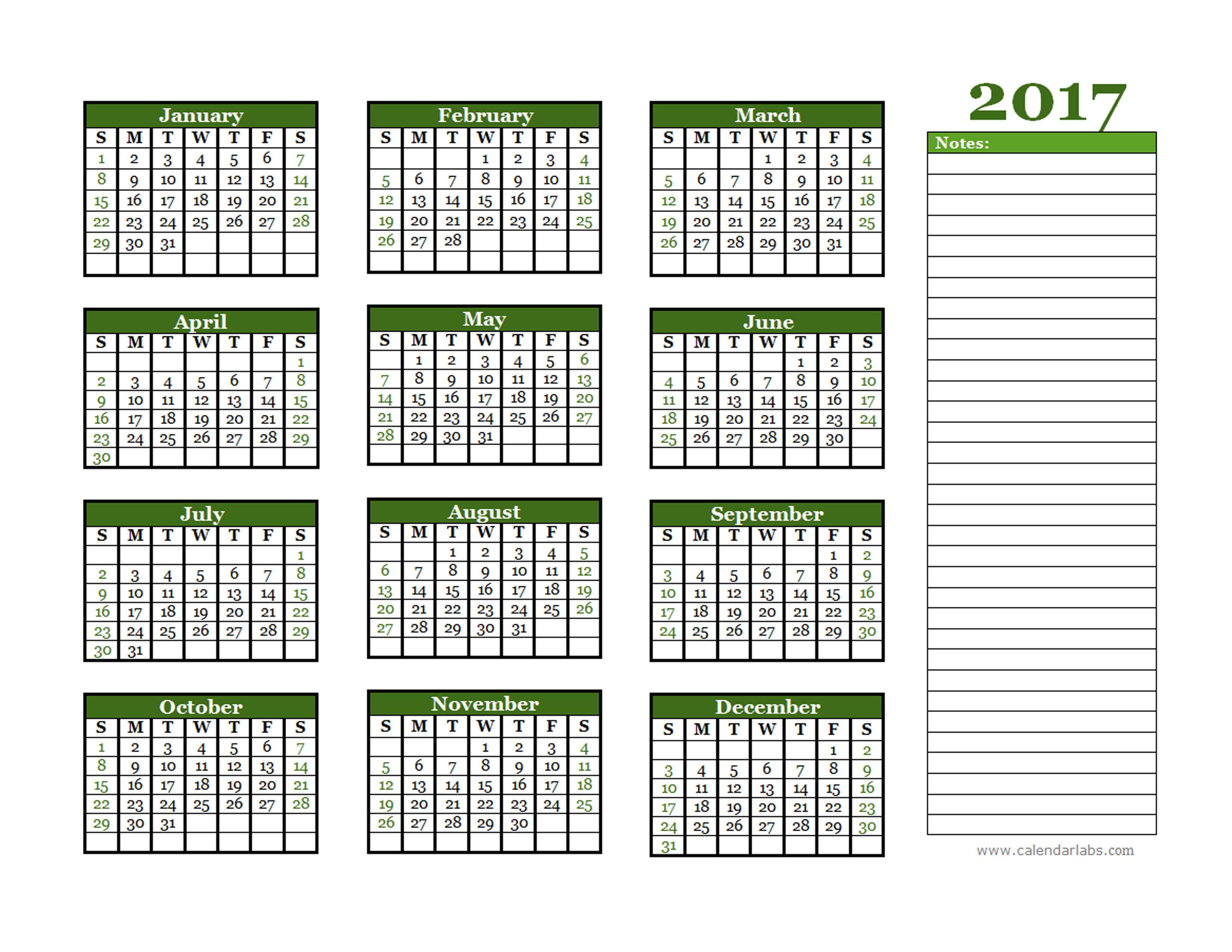2017 Calendar Printable Free Pdf | Search Results | Calendar 2015