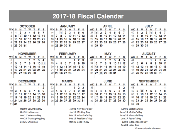 2017 Fiscal Year Quarters Template - Free Printable Templates