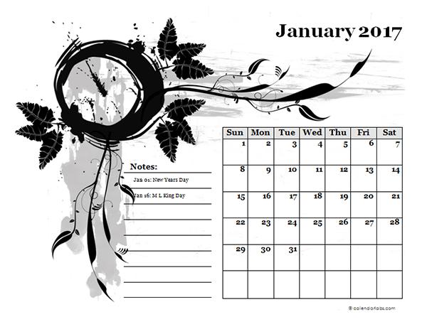 calendar template design