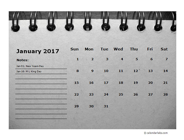 Weekly Calendar With Room For Notes : Monthly calendar template room for notes free