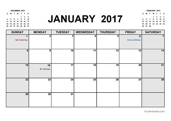 2017 printable calendar pdf - Printable Pictures Of