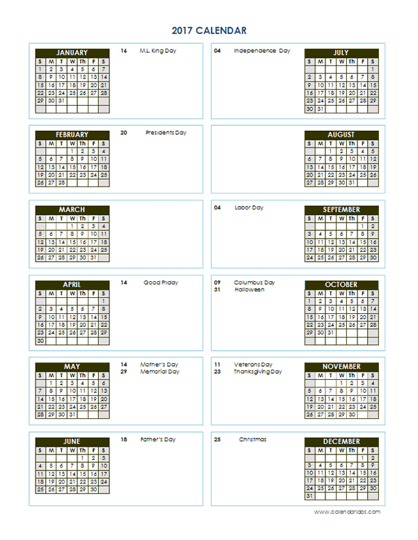 2017 yearly calendar template vertical 02