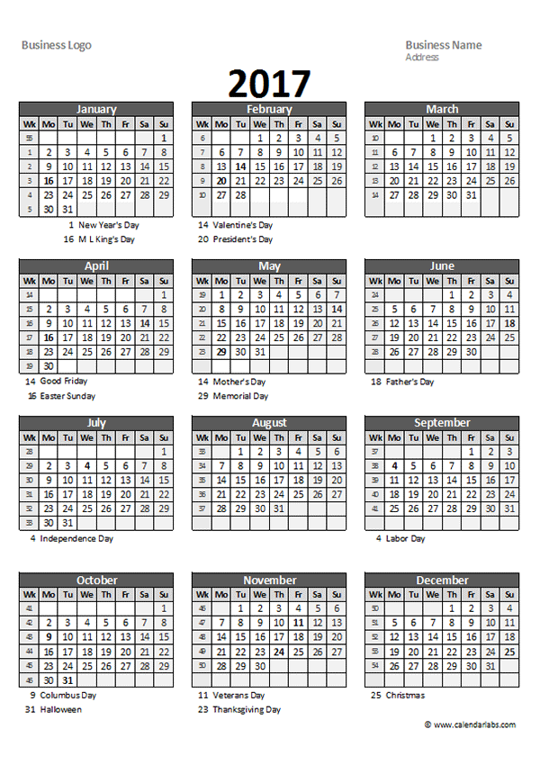 Calendar Spreadsheet : Yearly spreadsheet calendar free printable templates