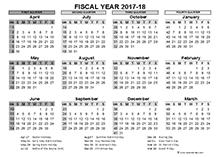2017-2018 Fiscal Calendar UK Template