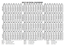 2017 Fiscal Calendar Template Starts at April