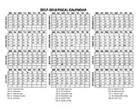 Fiscal Calendar 2017-18 templates