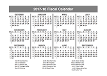 2017 Fiscal Year Quarters Template
