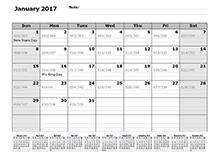 2017 julian calendar 12 month reference