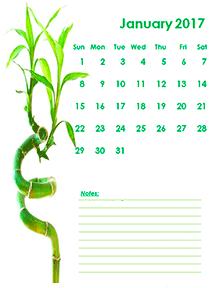 2017 blank calendar kids design